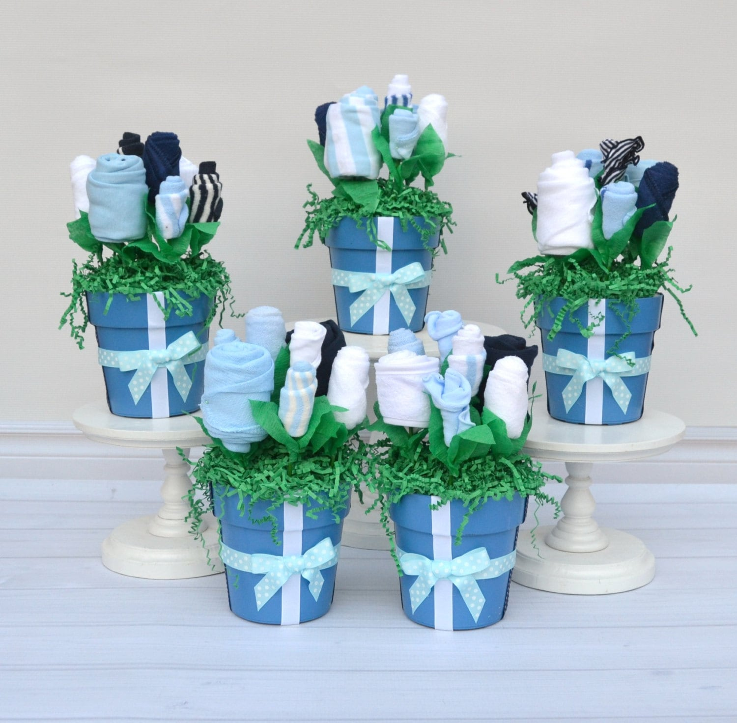 Baby shower ideas baby shower centerpieces shower decor baby bouquet centerpieces baby boy - Baby shower ideas for a boy centerpieces ...