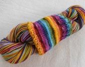 Russian Rainbow Self-striping Superwash Merino and Nylon Blend Sock Yarn