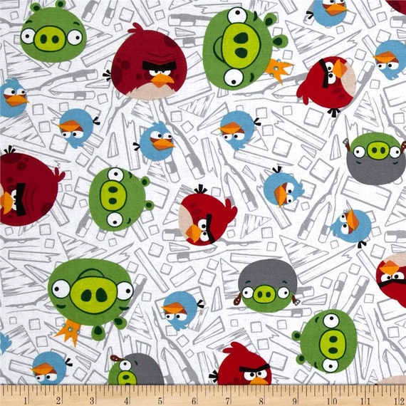 Angry birds kids drapes two panels 38 wide rod by for Children s fabric panels