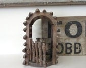 Vintage rustic garden gate Vintage rustic garden arch Christmas fence section Twig arch Display arch Display gate Little gate and arch
