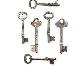 6 Vintage skeleton keys Old skeleton keys Vintage keys Key collection Authentic collection Old keys Skelton keys Authentic old keys bit #6