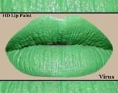 Green HD Lip Paint- Virus