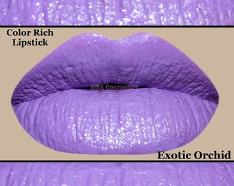 Purple Semi-Matte Color Rich Lipstick Lavender-Exotic Orchid