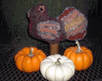 Rug Hooked Turkey Make Do