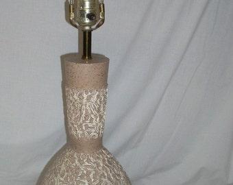 Mid Century Modern Textured Pottery Table Lamp
