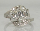 Vintage Emerald Cut Diamond Engagement Ring - Appraisal Included