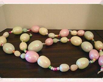 """Easter Egg Garland/ 62"""" long/Handmade / Craft Supplies*"""