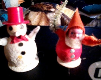 Vintage Little Japan Snowman & Elf