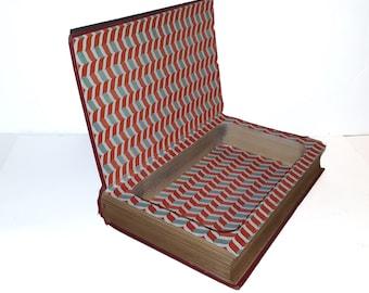 Hollow Book Safe The New York Red Book 1934 Cloth Bound vintage Secret Compartment Keepsake Box Hidden Security Box