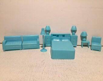 Vintage 1960's plastic Surerior dollhouse furniture