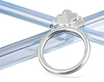 Silver Clouds Stacking Ring | Cloud Gemstone Ring | Eco-Friendly Jewellery | Ethical Silver Jewellery