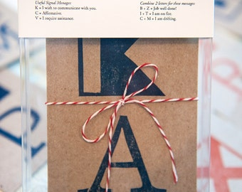 A to Z Signal Flag Postcards - Boxed Set of 26