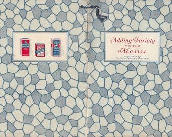 Adding Variety to the Menu 1926 Recipe Booklet Minute Tapioca Co Orange MA