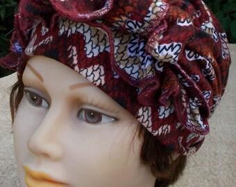 XLONG STRETCH WOMENS Soft Knit Dorag Chemo Biker Chevron Headwrap