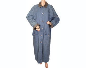 Vintage 1980s LL Bean Denim Duster Coat - L - XL