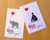 Love Notes Mini Valentine's Day Cards - Wild About You Zoo Card Valentines - Kids Valentines - Set of 8 Mini Valentines can be sent by mail
