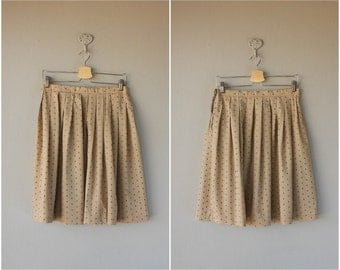 Vintage Full Skirt | Cotton Skirt | Knee Length Skirt | Polka Dot Skirt | Cotton Skirt
