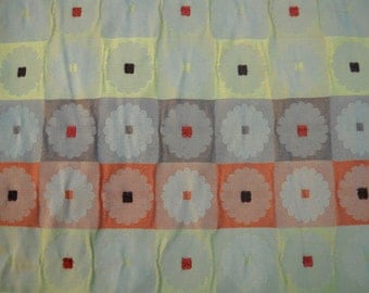Upholstery Fabric, Funky Geometric Floral Design, Wonderful Colors, Perfect Condition