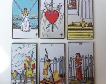 Wand / Sword Cards Tarot Card Magnet Collection