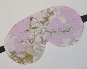 SONG BIRDS And Roses Five Layer LUXURY Cotton Sleep Eye Mask