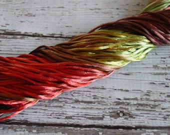NEW - Hand-dyed Silky Cord in SPICE, 6 yards