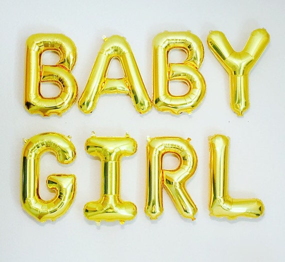 baby girl balloon letter banner baby girl balloons by With blow up letter balloons