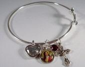 St. Therese of Lisieux Bangle Bracelet