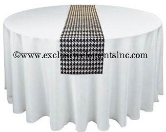 Black and White Table Runner Houndstooth Runner Modern Wedding Table Centerpiece Decoration Linens Black Home Decor