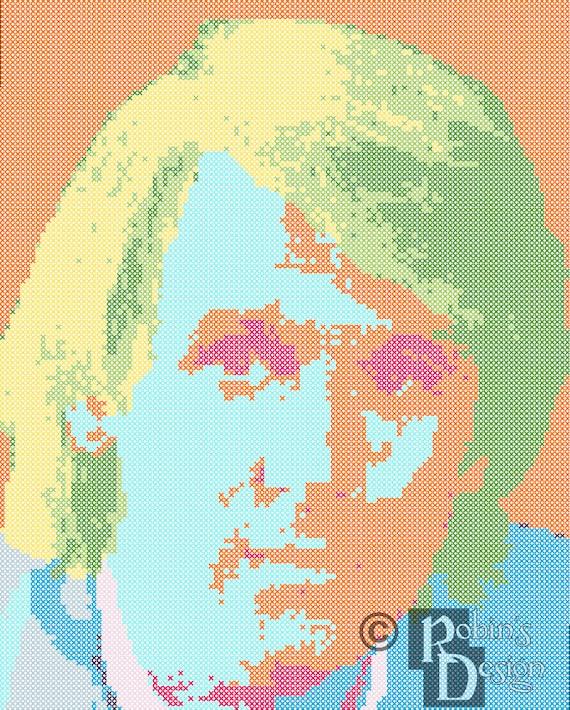 The Fifth Doctor Cross Stitch Pattern PDF