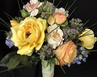Spring wildflower bridal bouquet