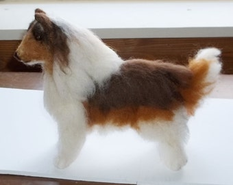 Sable Collie..needle felted soft sculpture