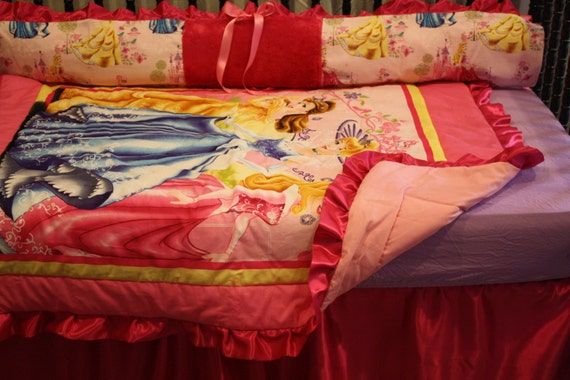6pc Beauty and the Beast Crib Bedding Set by bedbugscreations