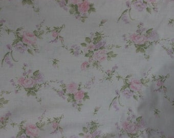 Yuwa French Roses  on Cream  Cotton Fabric 826227A