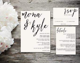 Rustic Wedding invitations, modern wedding invitations, simple wedding invitations, wedding stationery