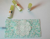 Pretty Spring Essential Oil Case -Roller ball case- 5ml Essential oil Case- 10 ml Rollerball case- lip balm case- beautiful spring accessory