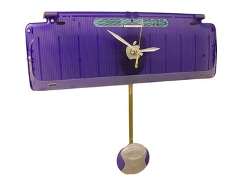 Apple Computer iMac Pendulum Clock from Recycled Keyboard. Grape Puck Mouse too. FREE SHIPPING USA!