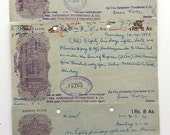 3 Vintage Indian Promissory Notes