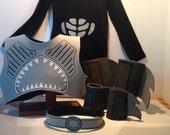 Shark Boy Silkscreened Costume NEW (!) design w/ Black Long sleeve