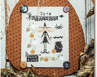 Pumpkins for Halloween - Cross Stitch Pattern by MADAME CHANTILLY Autumn - Witch - Pumpkins - Cauldron