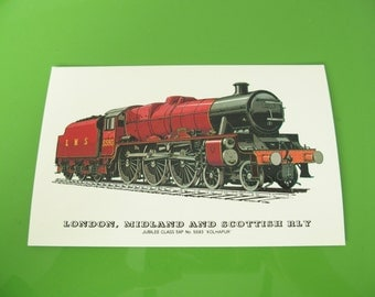 Vintage Train Postcard London Midland And Scottish RLY Made In England Worldwide Shipping
