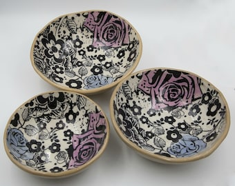 Serving Bowl set, Nesting Bowls, set of 3 nesting bowls - READY to SHIP