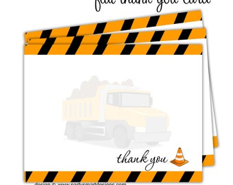 10-Thank You Note Cards/Flat Thank You Cards/Folded Thank You Cards/Flat Notecards/Folded Notecards/Construction Thank You Cards