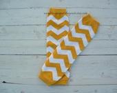 Baby Leg Warmers Yellow Gold Chevron Baby Girl Toddler