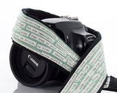 dSLR Camera Strap, Happy Thoughts, Aqua, Inspirational, Quotes, Words of Wisdom, SLR, Canon Camera Strap, Nikon Camera Strap, Pocket, 1 a