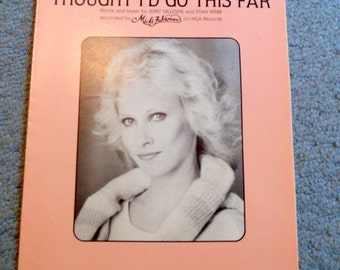 Sheet music Micki Fuhrman I bet you never though I'd go this far/Janie Fricke Your Heart's not in it/1984/1983/piano music/vocal/guitar