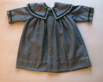 Vintage Girls Hand tailored Coat Toddler Plaid Jacket Handmade Vintage Clothing