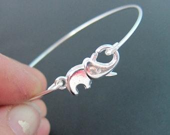 Elephant Jewelry, Silver Elephant Bracelet, Elephant Charm Bracelet, Animal Jewelery, Animal Braclet, Animal Bangle, Elephant Jewlery