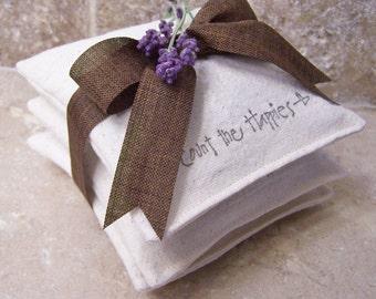 Natural Lavender Dryer Bags - Sachets - Pkg of 3