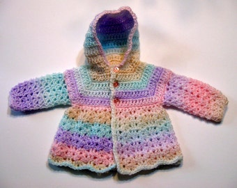 Hood Crochet Pattern, Baby Sweater, Top Down, Hood Seam Only,  Newborn to 3 Months and 3 months to 6 months PDF Pattern, Instant Download