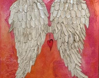Angel Wing Wall Decor Sculpture